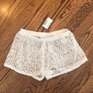 New CHILDRENS PLACE White Lace Cover Up Shorts M
